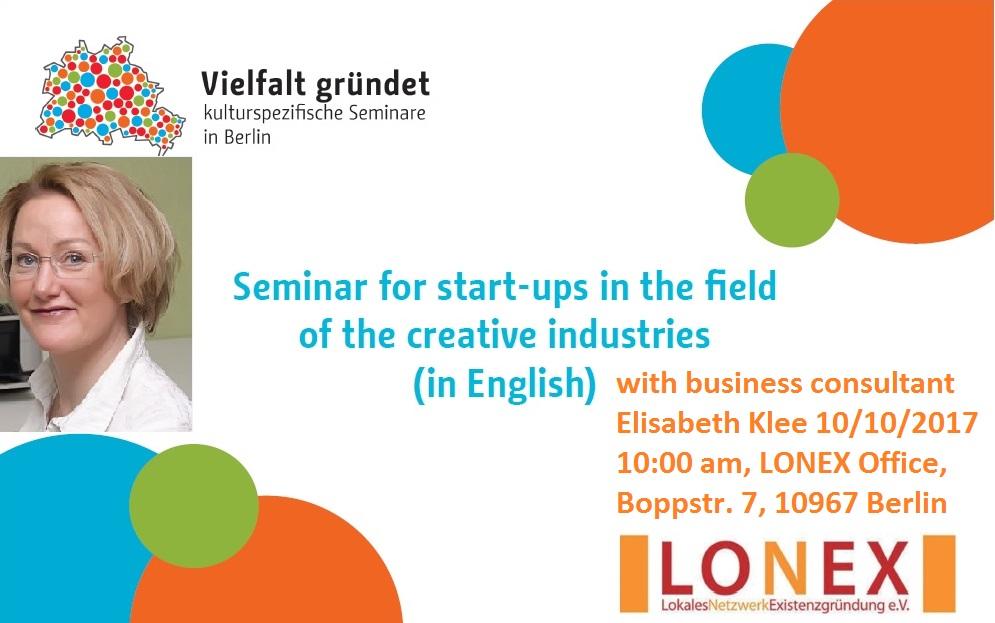 Elisabeth Klee Business Start up Seminar 10.10.2017